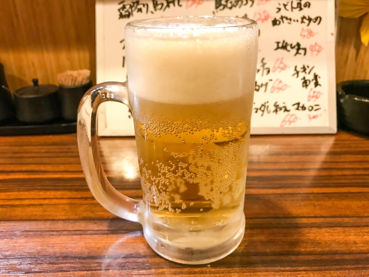 下赤塚「天晴」の生ホッピー